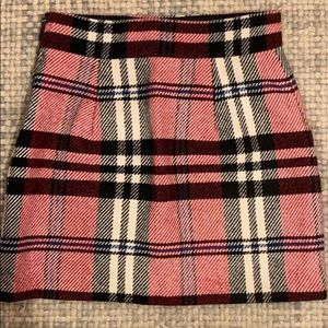 Plaid Topshop mini skirt